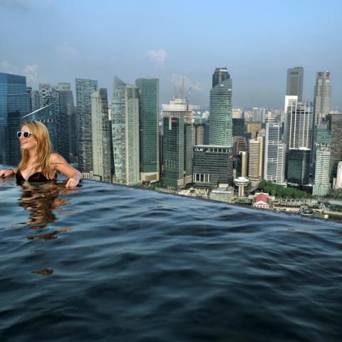 Swim Marina Bay Sands Casino Pool Singapore